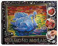 Набор для творчества DankoToys DT DM-01-02 Diamond mosaic Картина из страз Лебеди