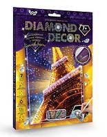 Набор для творчества DankoToys DT DD-01-01 Diamond Art Картина со стразами Эйфелева башня
