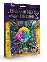 Набор для творчества DankoToys DT DD-01-05 Diamond Art Картина со стразами Роза