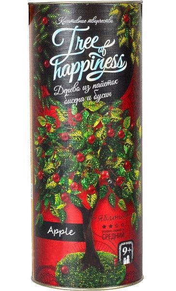 Набор для творчества DankoToys DT TH-02 Tree of happiness дерево из пайеток и бисера Яблоня