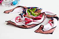 Брендовый шёлковый платок CHANEL