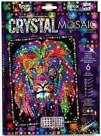 Набор для творчества DankoToys DT CRM-01-04 Мозаика Crystal Mosaic Лев