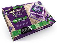 Набор для творчества DankoToys DT EMB-01-03 Шкатулка-вышивка гладью Embroidery Box