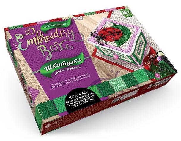 Набор для творчества DankoToys DT EMB-01-06 Шкатулка-вышивка гладью Embroidery Box
