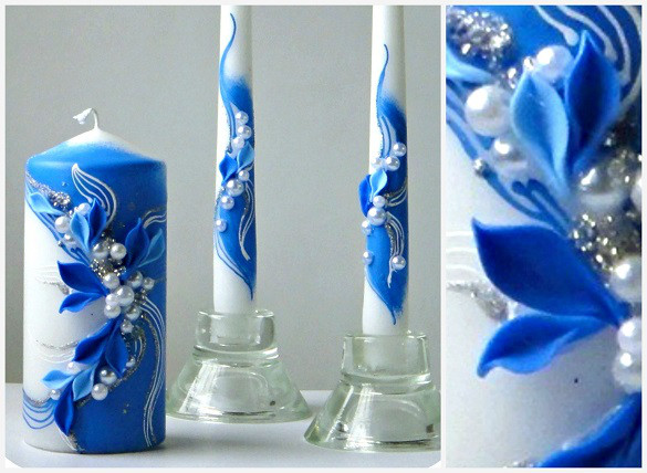 Набор свадебных свечей Bispol 3 шт (СC924-050)