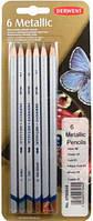 Карандаши цветные 6цв. Derwent Traditional Metallic в блистере 700055