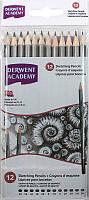 Карандаши чернографитные набор 12цв. Derwent Sketching Academy 2300412