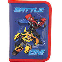 Пенал 1 отделение с 2 отворотами Kite мод 621 Transformers TF17-621-2