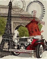 Картина раскраска по номерам на холсте 40*50см Babylon VP689 Винтажная марка Франция