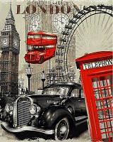 Картина раскраска по номерам на холсте 40*50см Babylon VP690 Винтажная марка Англия