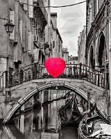 Картина раскраска по номерам на холсте 40*50см Babylon VP700 Зонт в форме сердца