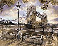 Картина раскраска по номерам на холсте 40*50см Babylon VP727 Утро у Тауэрского моста