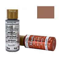Краска акриловая DecoArt Dazzling Metallics 59мл Медь DA205-3