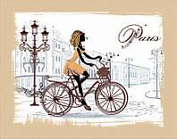 Набор для вышивания бисером 30*40см Идейка Улицами Парижа ВБ1038
