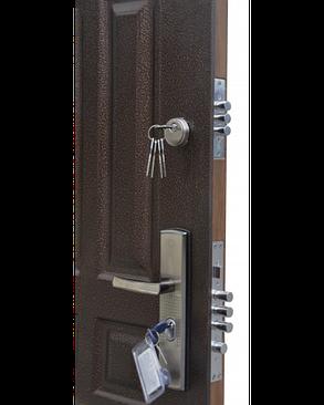 Китайские, металлические, входные уличные двери 86 левая, фото 2