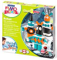 Глина полимерная FIMO kids набор 4шт. Робот 8035 03 LZ