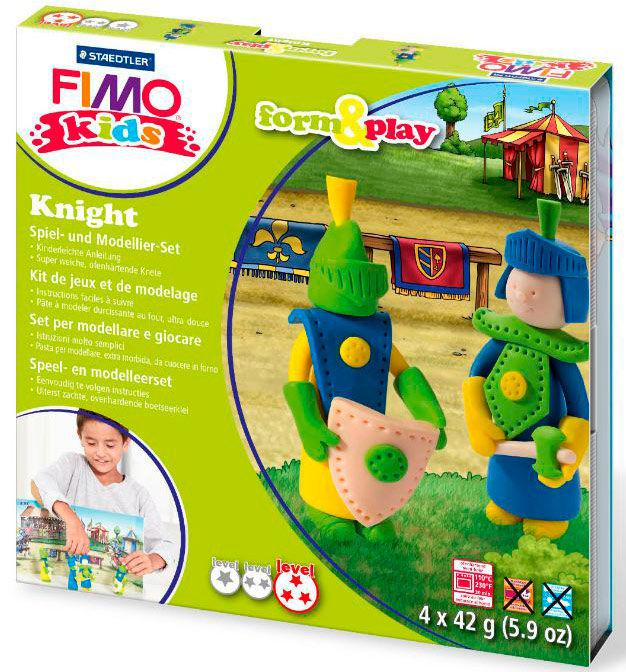 Глина полимерная FIMO kids набор 4шт. Рыцарь 8034 05 LZ