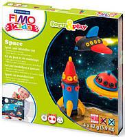 Глина полимерная FIMO kids набор 4шт. Космос 8041 09 LZ