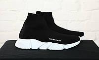 Кроссовки Balenciaga Sock Triple Trainer Black/White. Живое фото (Реплика ААА+)