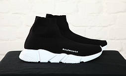 Кроссовки Balenciaga Sock Triple Trainer Black/White. Живое фото (Реплика ААА+)
