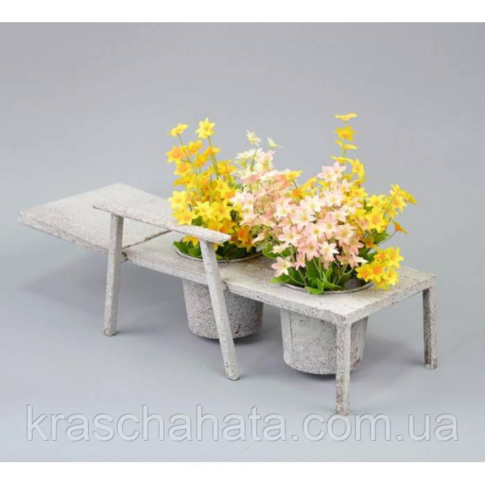 Подставка под цветы, Кашпо, Шезлонг, JK015, 15*47*10 см