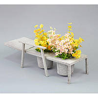 Подставка под цветы, Кашпо, Шезлонг, JK015, 15*47*10 см, фото 1