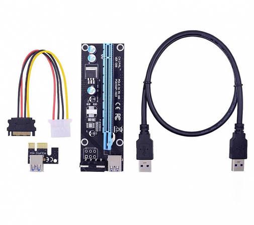 Райзер Riser PCI-E 1X to 16X Molex ver 006 60 см [В НАЛИЧИИ!], фото 2