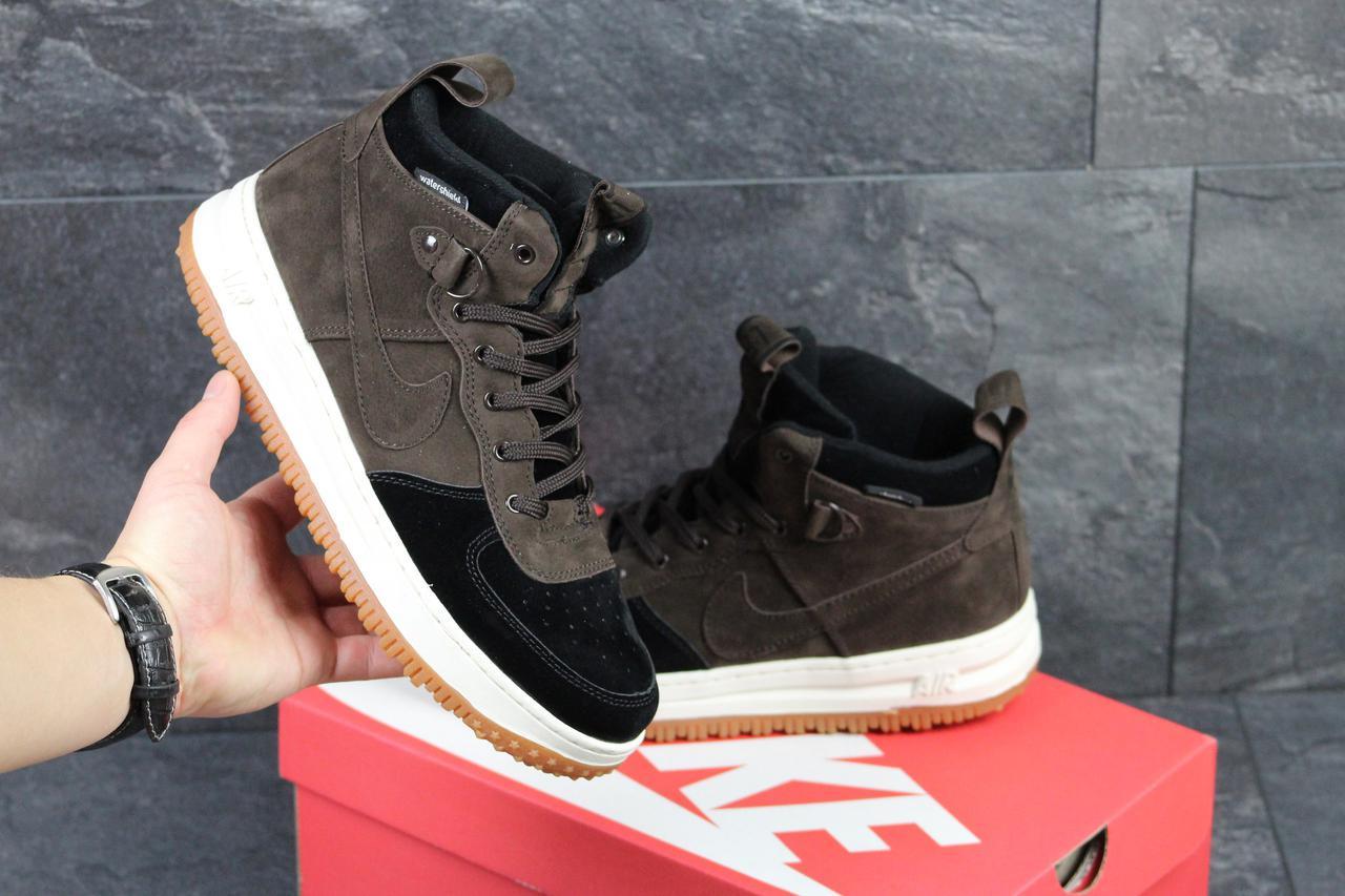 Мужские кроссовки Nike Lunar Force LF1 коричневые ( Реплика ААА+) - bonny -style e3634b0f6c483