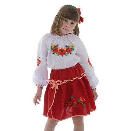 55a6554f5b0 Красная юбка вышиванка для девочки Маки  продажа