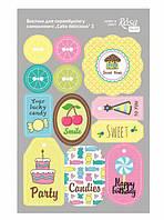 Высечки из картона Rosa Talent самоклеющие набор Cake delicious 2 12,8*20см 9406093