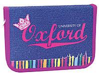 Пенал 1 отделение с 1 отворотом 1 Вересня Oxford jeans 531372