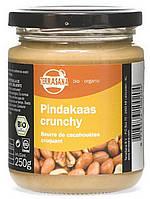 Органическое масло (паста) арахисовое с кусочками арахиса, Terrasana, 250 гр
