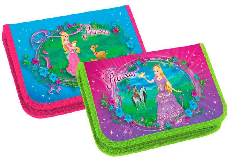 Пенал 1 отделение без отворотов Kidis 7355 Princess world