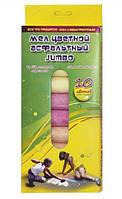 Мелки цветные 10шт Мультяшки Jumbo 7413