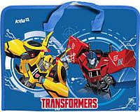Портфель А4 Kite мод 202 Transformers пластик на молнии TF17-202