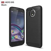 Противоударный чехол для Motorola Moto G5s, карбон