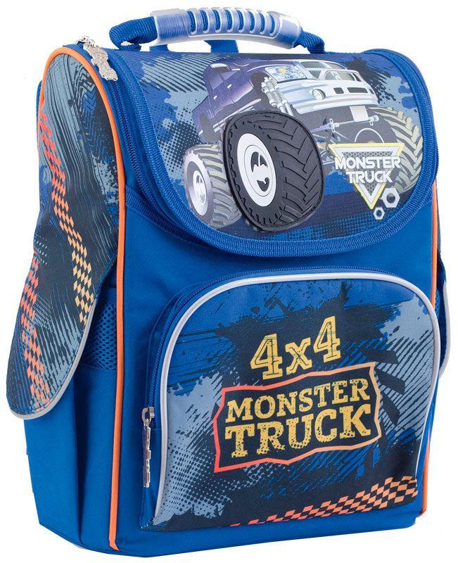 Рюкзак (ранец) 1 Вересня школьный каркасный Yes 553296 Monster Truck H-11 34*26*14см