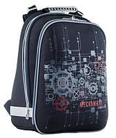 Рюкзак (ранец) школьный каркасный 1 Вересня Yes 553353 Mechanical H-12 38*29*15см