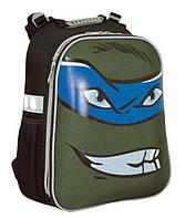 Рюкзак (ранец) школьный каркасный 1 Вересня Yes Turtles face Shark H-12 38*29*15см