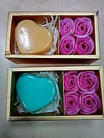 Сувенирное Мыло !  4 Шт.Розы + Сердечко Мыло Лепесток Розы