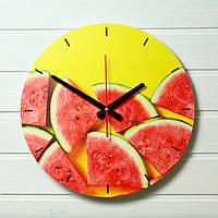 """Настенные часы на кухню - """"Арбузы"""" (на пластике)"""