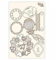 Чипборд для скрапбукинга 130*200 мм Floral Poem 1 белый 94232034