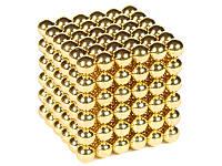 Неокуб золотой 216 шариков, Neocube, магнитные шарики неокуб, магнитная головоломка NeoCube, магнитные кубы