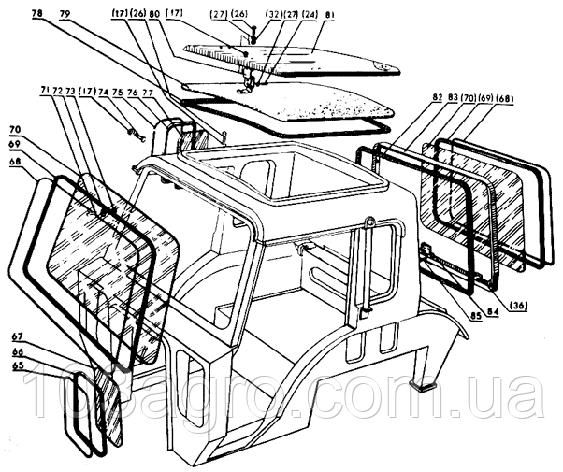 Скло переднє Т-16 942х807, фото 2