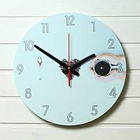 """Настенные часы на кухню - """"Я люблю кофе"""" (на пластике) 35см"""