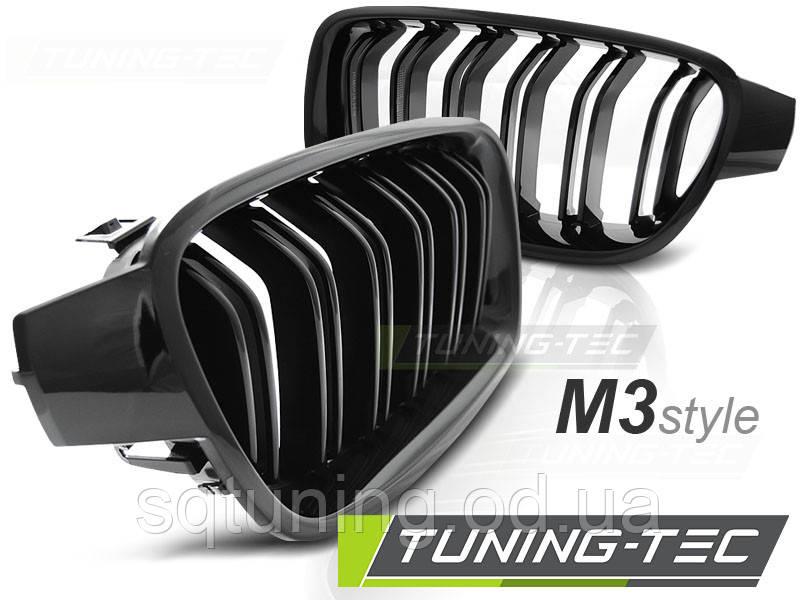 Решетка радиатора BMW F30 / F31 10.11- M3 LOOK GLOSSY BLACK