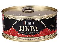 Красная лососевая икра горбуша Lemberg Германия 250 грамм в жесть банке