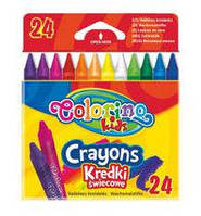 Мелки восковые для рисования цветные Colorino 24цв. 13895
