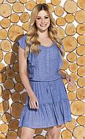 Молодежное летнее платье Candra Zaps джинсового цвета, коллекция весна-лето 2018
