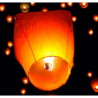 Небесный фонарик 6 цветов арт. 13763-5, летающие фонарики, фонарик желание